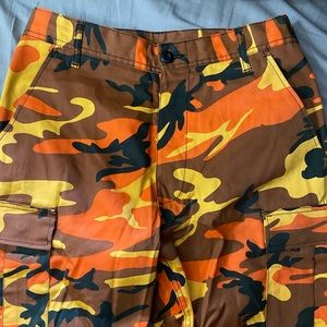 Orange army pants